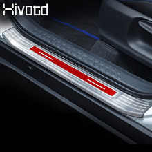 Hivotd For Toyota C-HR CHR 2019 Car Stainless Steel styling Door Sill Welcome Pedal Scuff Plate Cover Trims Exterior Accessories lapetus stainless steel auto styling inner car door sill inside scuff plate cover trim for toyota c hr chr 2016 2017 2018