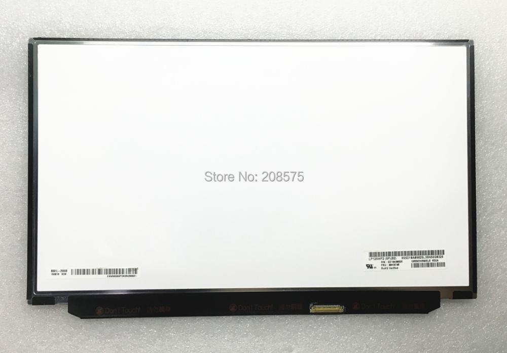 Livraison Gratuite LP125WF2-SPB2 LP125WF2 SPB2 Fit pour Lenovo Thinkpad X240 X250 X260 X270 X280 FHD IPS LCD ÉCRAN avec FRU 00HM745