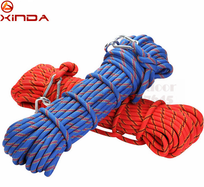 XINDA 10M Professional Rock Climbing Rope Outdoor Hiking Accessories 10mm Diameter 3KN High Strength Cord Safety Rope