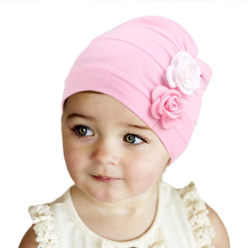 Neue Blume Design Baby Hüte Mode Kinder Baumwolle Hut Mädchen Indien Cap Baby Beanie Cap Zubehör