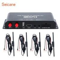 Seicane HDMI DVB T2 приемник ТВ 4 тюнер цифровой ТВ ящик для автомобиля dvd плеер 1080 P
