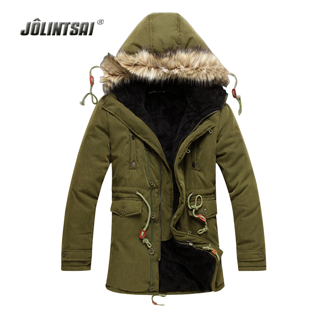 ФОТО Winter Coat Men 2017 Men's Jacket Solid Causal Long Flocking Warm Coat Male Fashion Parka Padded Hooded Winter Wear Thick Coats