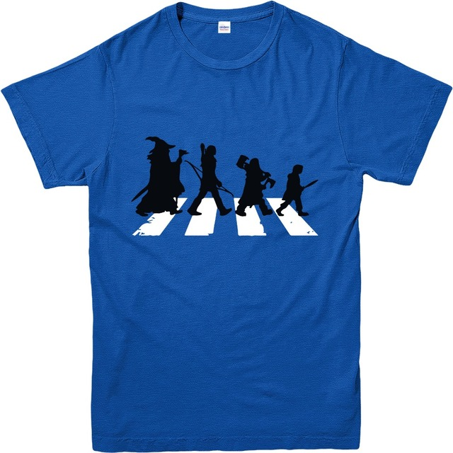 100% Cotton Short Sleeve Lord Of The Rings Characters Crossing Tee