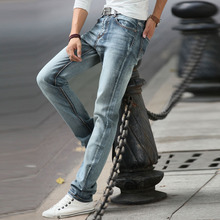 купить Jeans For Mens Vintage Pencil Pants Classic Jeans Male Denim Jeans Designer Trousers Casual Slim Male Straight Elasticity Pants дешево