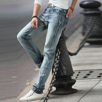 Jeans For Mens Vintage Pencil Pants Classic Jeans Male Denim Jeans Designer Trousers Casual Slim Male Straight Elasticity Pants qmgood mens jeans 2017 new fashion slim fold jeans men brand designer denim pants large size locomotive jeans casual male 40 42