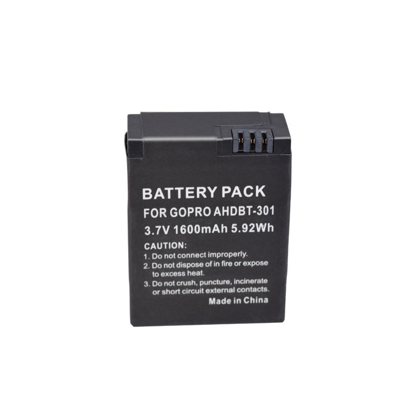 1pc / lot 1600mAh akku Go Pro hero 3/3 + battery AHDBT-301 AHDBT301 AHDBT-201 for gopro HERO3 gopro3 3 + parts, wholesale стоимость