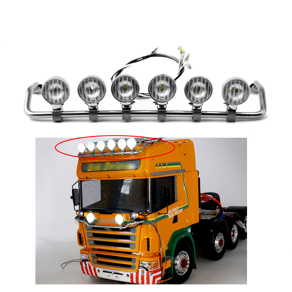 LED Spotlight Toplight For 1:14 Tractor Trucks Scania R470 Highline RC TAMIYA Scania R620 R470 Model Tractor Truck RC Car Parts