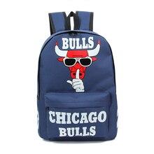 Hommes de femmes Cartable mode Chicago Bulls impression sacs à dos Garçons et filles étanche haute école sacs adolescentes voyage mochila