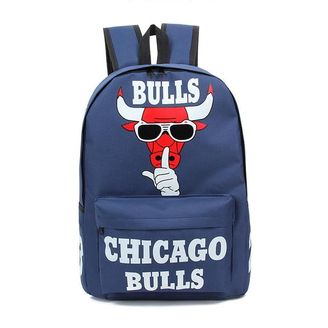 Aliexpress.com : Buy Men's women Schoolbag fashion Chicago Bulls ...