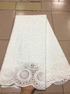 Специальное предложение белого цвета, кружевное платье с вышивкой из хлопка в африканском стиле, швейцарская вуаль, высококачественные кру...