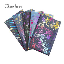 hot deal buy 40*50cm cotton denim fabric plant flower patchwork printed textile diy sewing materials home textile fabric for sewing doll