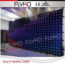 М p18 6x3 м лучшая цена rgb гибкий светодио дный СВЕТОДИОДНЫЙ занавес экран
