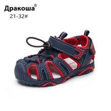 Apakowa Toddler Little Boys zamknięte Toe letnie klapki dla dzieci szybkoschnący basen plażowe buty do biegania sandały sportowe ze sklepienie łukowe