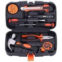 9PCS Mixed General Hand Tool Kit, Small/Tiny/Mini Home improvement/Household Tools, Portable Repairing Tool Set, with Plastic