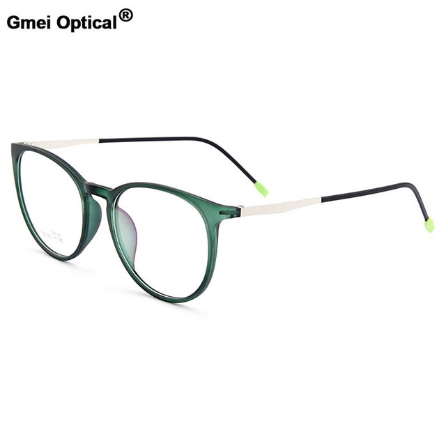 a07836bf4aa Gmei Optical New Urltra-Light Round Full Rim Optical Eyeglasses Frames  Women s Mixed Material Myopia