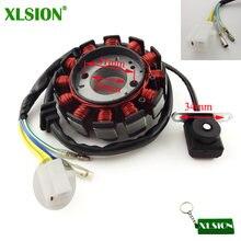 XLSION 12 Spulen Pole Zündung Stator Magneto Rotor Für GY6 125cc 150cc Motor Teile Chinesischen Moped Roller ATV Quad Go kart