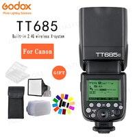 Godox TT685C speed lite Высокоскоростная синхронизация внешний ttl для вспышки Canon 1100D 1000D 7D 6D 60D 50D 600D 500D + подарочный комплект