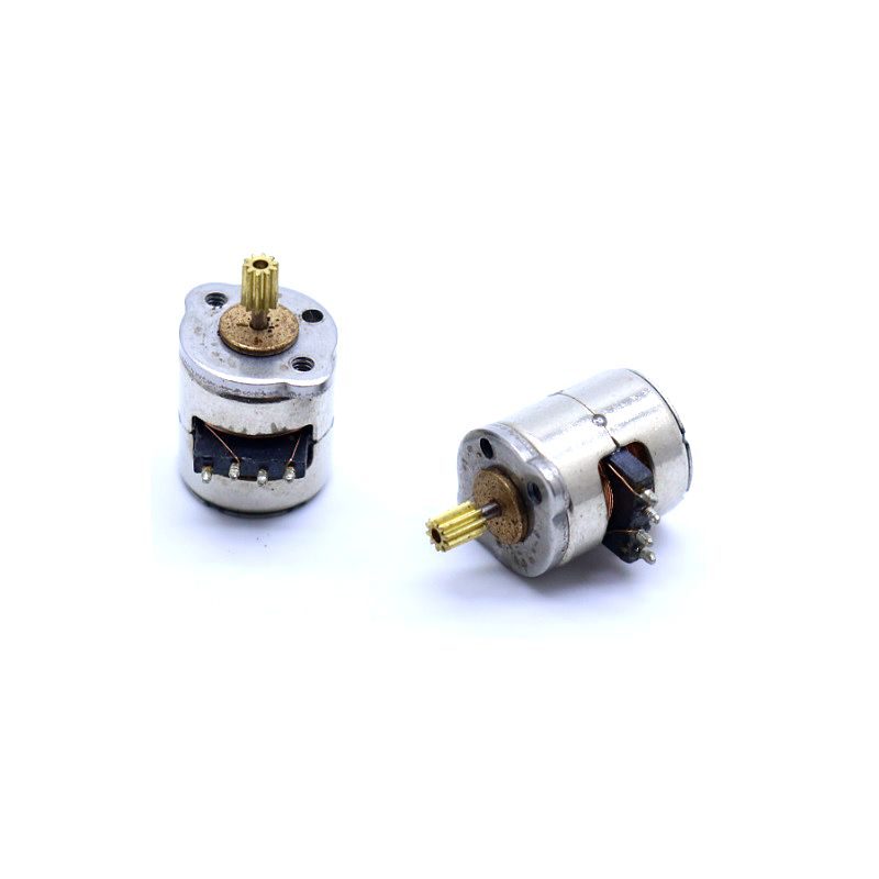 2PCS lot Micro 2 Phase 4 Wire Stepper Motor with Copper Gear 8 9 5mm Mini