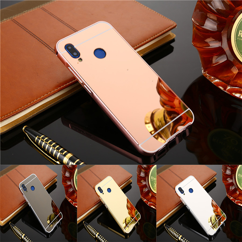 detailed look ecfd8 ef2d4 Luxury Rose Gold Mirror Cases For Xiaomi Redmi Note 5 Pro Note5 Pro  Alumimum Metal Frame Shell Back Cover