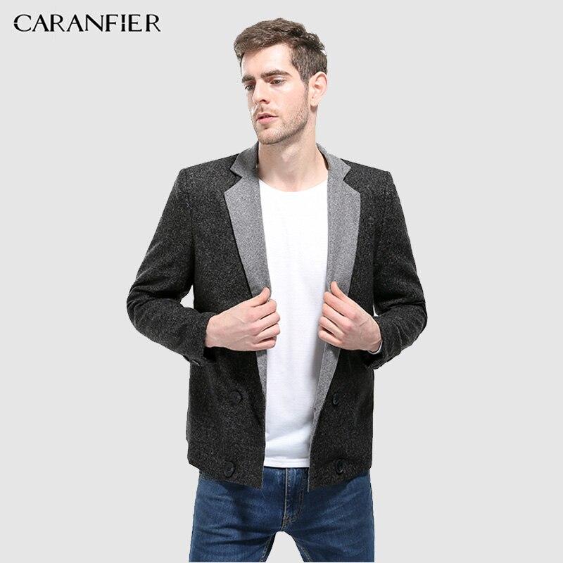 CARANFIER nouveaux hommes marque de mode Blazer décontracté Slim Fit haute qualité costume veste solide col rabattu entreprise masculin Blazer