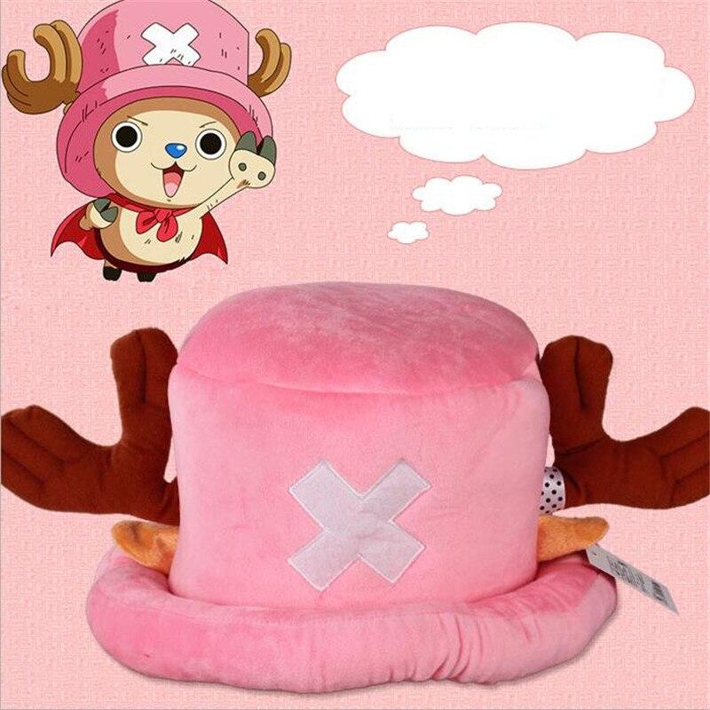 Heißer Animation ONE PIECE Tony Chopper Rosa Niedlichen Cartoon hüte Cosplay Kopfschmuck Elk horn Caps Geschenk Plüsch Winter Warme hut