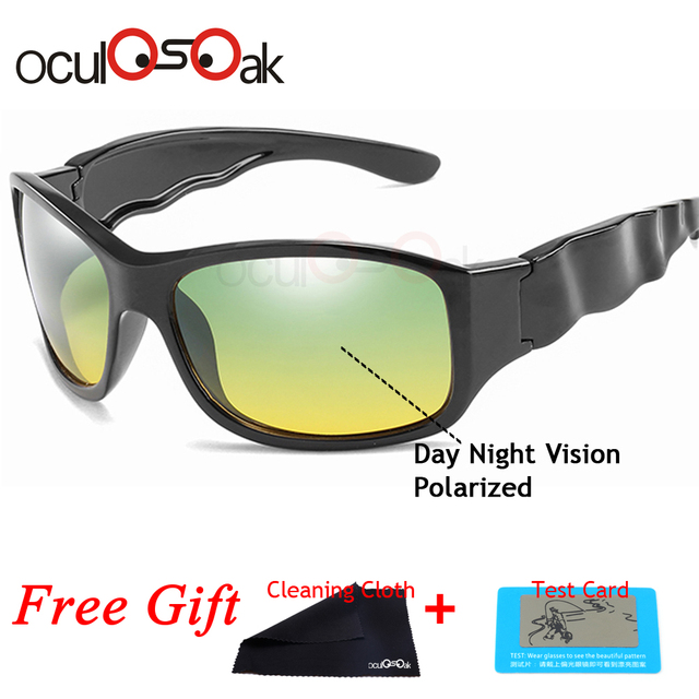 Day Night Vision Polarized Glasses Multifunction Men Polarized Sunglasses Reduce Glare Driving Sun Glass Goggles Eyewear Lunette