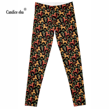 2016 wholesales New Fashion Women Clothes Hot Digital Print Pantsof cute horse  The Riddler Leggings Skinny leggings