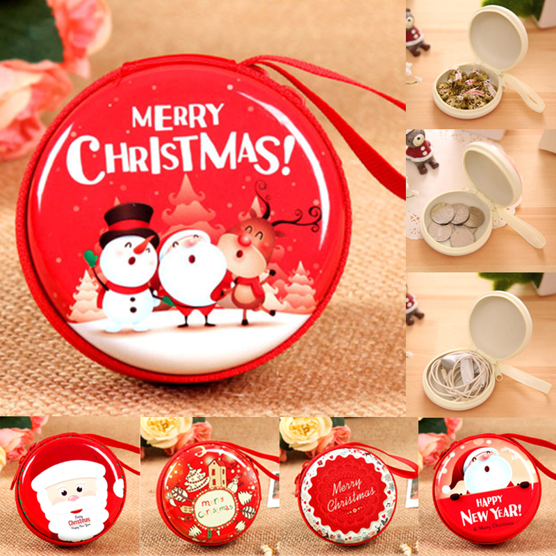 Us 0 94 15 Off Festival Party Chrismas Fashion Women Xmas Santa Small Wallet Zip Coin Purse Clutch Handbag Gift Boxes Bags In Gift Bags Wrapping