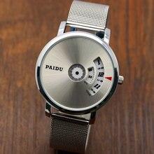 New Design PAIDU Fashion casual Wrist Watch for Men Minimalist Stainless Steel Strap Men's Wristwatch