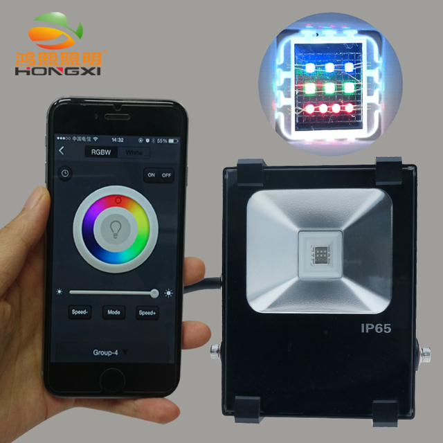IPROLED WIFI APP Control 10W RGB Led Floodlight Outdoor