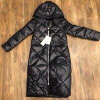 YNZZU New Winter Jacket Women 2018 Casual Black Long Style Hooded Thick Warm Cotton Coat Women Parka Outwears High Quality YO591