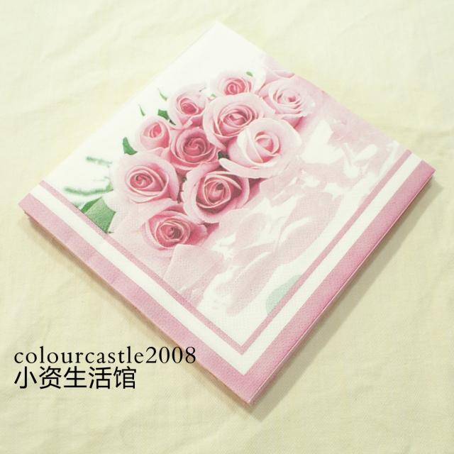 20 pcs Pink Rose Paper Napkin for Party Decoration Supplies Wedding ...