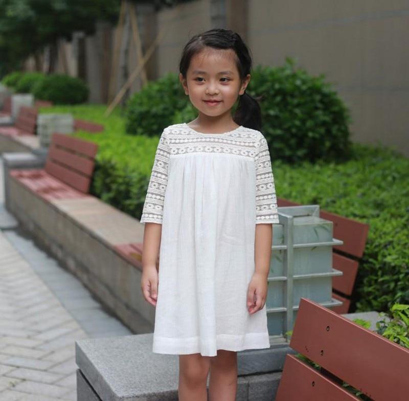 Dziewczęce oddychające koronkowe sukienki Letnie sukienki - Ubrania dziecięce - Zdjęcie 2