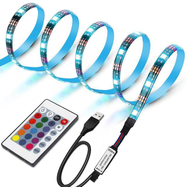 Akdsteel Led Light Strip 30 Tv Backlight Multicolor Dimmable For Set Computer Home Theater Bar