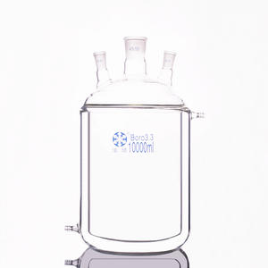 10000ml Jacketed Reactor-Bottle Flask Cylindrical-Three-Necked 24/40 Mezzanine Double-Deck