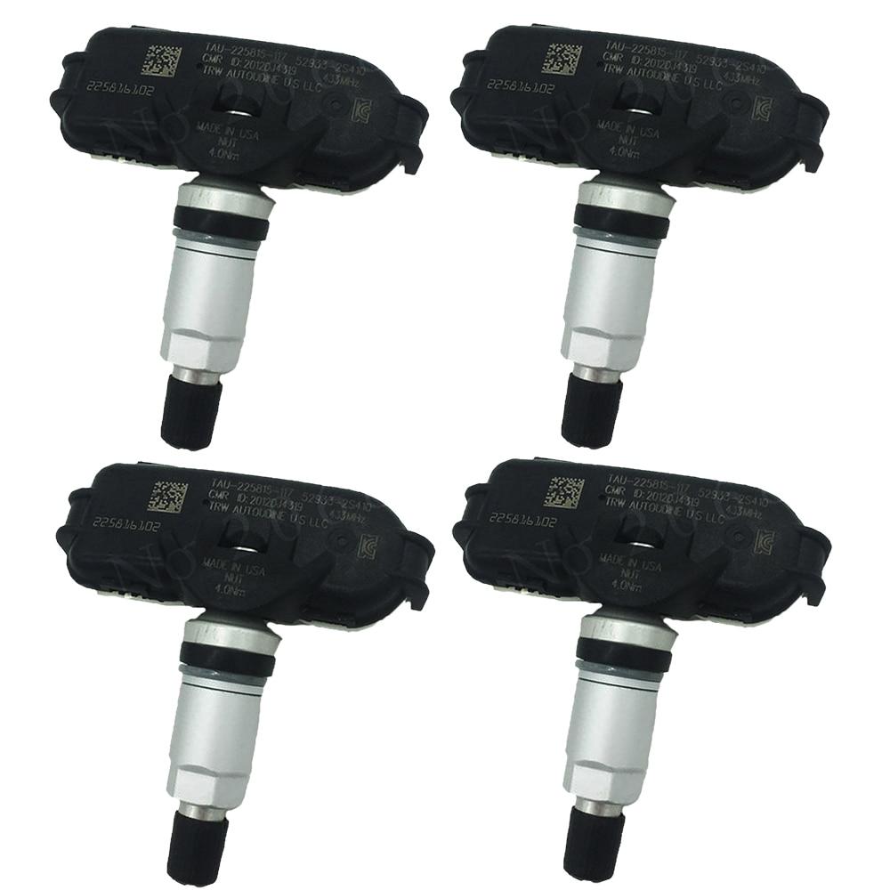 4PCS TPMS For Hyundai 52933-2S410 529332S410 52933 2S410 Elantra I40 Ix35 Tucson Sonata For Kia Rio Sportage Mohave Borrego