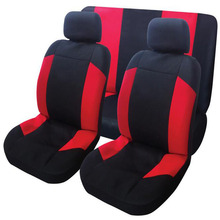 6PCS Mesh Fabric Auto Interior Accessories Classic Design Styling Car Seat Covers Universal Car-cases Protector