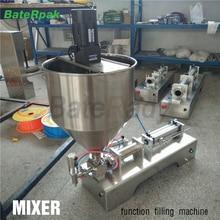 G1+ Функция миксера нержавеющая сталь горизонтальная пневматическая паста Автоматическая машина для наполнения, 5-100 мл. 110 В/220 В
