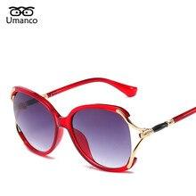 33df86911eebf Umanco Nova Moda Das Mulheres Semi-Rimless Óculos De Sol Do Metal Plástico  Gradiente UV400 Eyewear Marca Designer Vintage Óculos.
