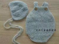 Knit Rompers Hand Crochet Bonnet Newborn Hat Mohair Overall Newborn Prop Baby Prop Mohair Pants