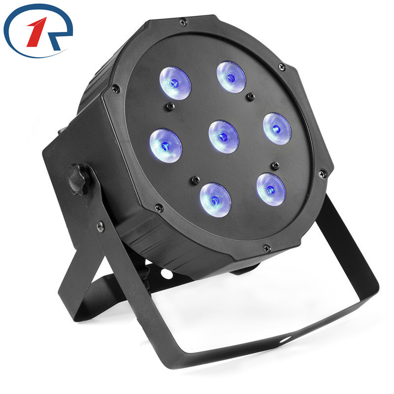 ZjRight High Power 70W RGBW Led Stage Light DMX512 LED Flat Par Dyeing lights for disco dj bar ktv Large concert effect lighting 2pcs dj disco par led 54x3w stage light dmx strobe flat luces discoteca party lights laser rgbw luz de projector lumiere control