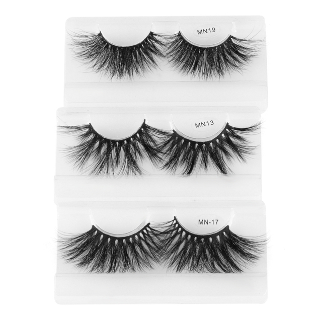 1 Pair Extra Long 30MM Mink Lashes 3D False Eyelashes Wispy Multilayer Eyelashes Cruelty-free Handmade Natural Eyelash Makeup