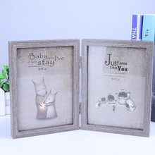 European Photo Frame And American Creative New Cartoon Animal Double Wooden 6 Inch 7 Color Home Bedroom