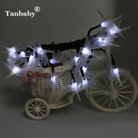 2016 Beautiful Design Solar Powered Dragonfly 5M 20 LED String Fairy Lights Outdoor Lanterns Xmas Christmas