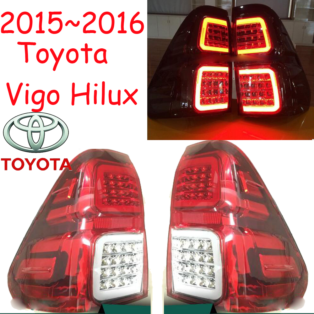 car-styling,Vigo Taillight,2015~2016,led,Free ship!2pcs/set,Vigo fog light;car-covers,Chrome,Vigo tail lamp,Vigo Hilux car styling yukon taillight 2015 2017 2pcs set led free ship yukon fog light chrome yukon tail lamp car detector yukon
