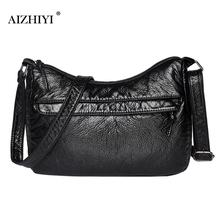 Bolso Vintage de cuero de PU para mujer, bolsos de mensajero para primavera y verano, bolsos Hobos, bolso de diseñador para mujer, bolso de hombro 27x17x10cm
