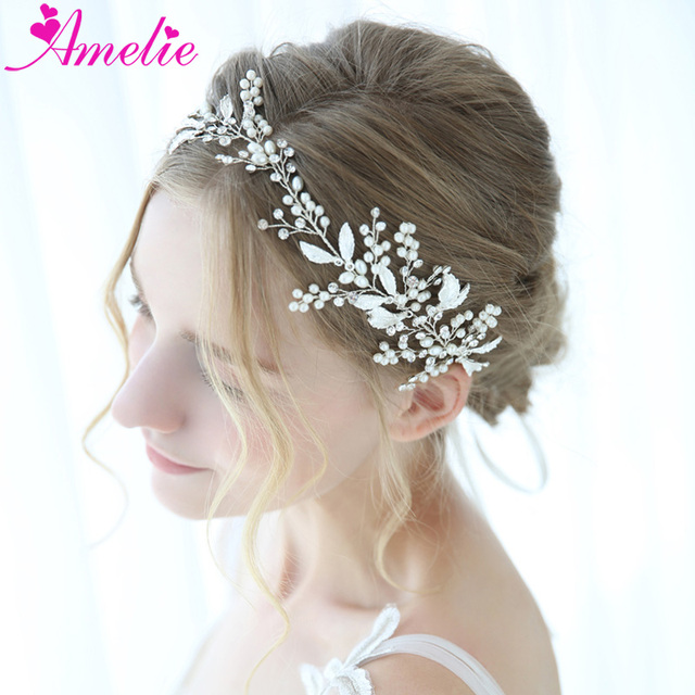 Aliexpress Com Buy Silver Bridal Hair Vine Floating