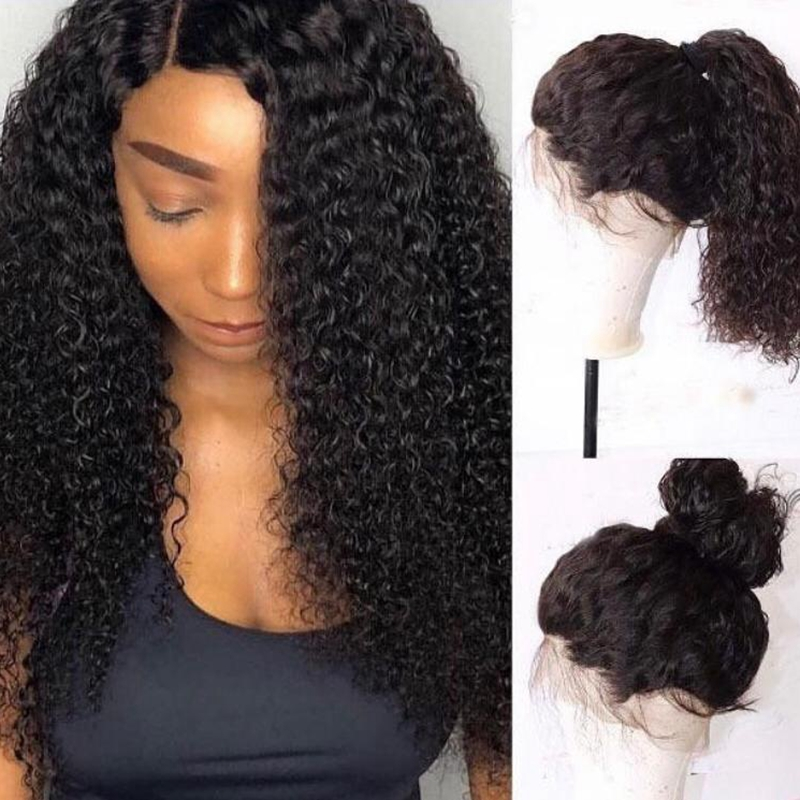 Short Bob Kinky Curly Lace Front Human Hair Wigs For Black Women Brazilian Remy Lace Frontal