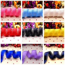 Free delivery 30mm multicolored pure colored grosgra ribbon lace by hand diy hair accessories 10 yards Manual material(China)