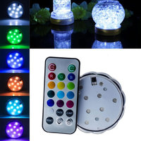 Modern Design Multi Color Waterproof Light Submersible LED Light With Romote Control For 2016 New